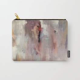 Gentle Beauty [2] - an elegant acrylic piece in deep purple, red, gold, and white Carry-All Pouch