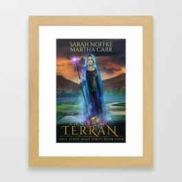 Land Of Terran - Soul Stone Mage Seris: Book 4 Framed Art Print