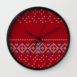 Pattern in Grandma Style #64 Wall Clock