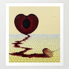 with a heavy heart Art Print