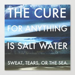 The Cure for Anything is Salt Water - Photo Collage & Quote Canvas Print