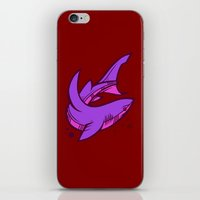 shark iPhone & iPod Skins featuring Shark by Artistic Dyslexia