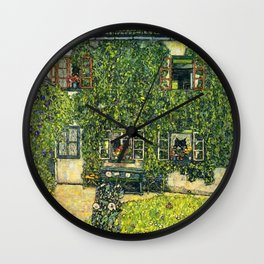 "Gustav Klimt ""The House of Guardaboschi"" Wall Clock"