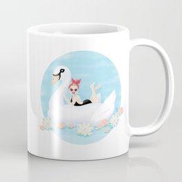 Summer Pool Party - White Swan Float C Coffee Mug