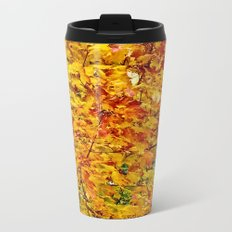 Autumn Gold Metal Travel Mug