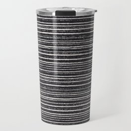 Modern black white geometrical stripes pattern Travel Mug