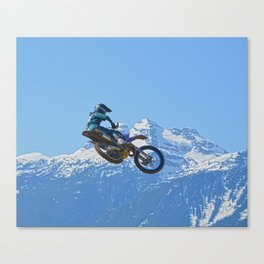 Revelstoke Ride - MotoX Racing in British Columbia Canvas Print