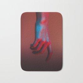 Red Hot Hands 2 of 4 - Modern Photography Bath Mat