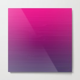 FUSCHIA pink to violet purple Gradient Ombre painted appearance Metal Print