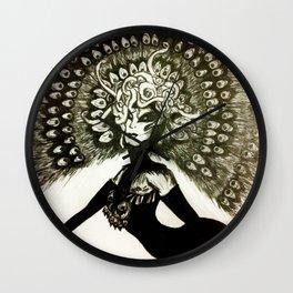 Peacock Lady Wall Clock