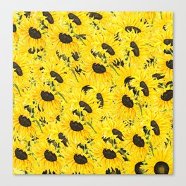 sunflower pattern 2018 1 Canvas Print