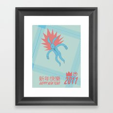Happy Chinese NEW YEAR! Framed Art Print