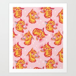 Tigerpop pattern Art Print