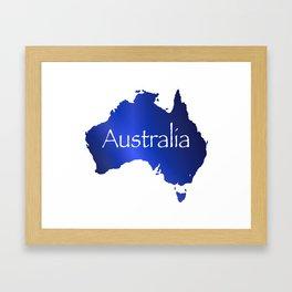 Australia Map Framed Art Print