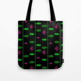 Flowers and Buds on vines - by Matilda Lorentsson Tote Bag