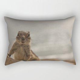 Cute chipmunk, by the beach, nautical, fun animal Rectangular Pillow