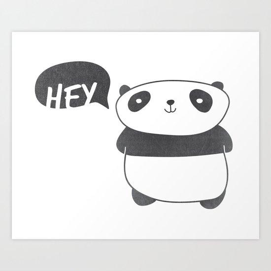 Panda Friend Art Print