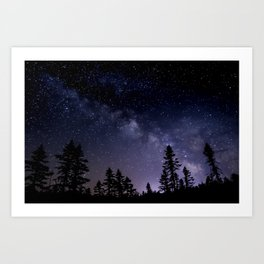 Adirondack Milkyway from Boreal Forest Art Print