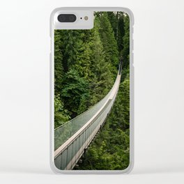 Capilano Suspension Bridge Clear iPhone Case