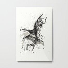 TheBatman - Splatter Art Metal Print