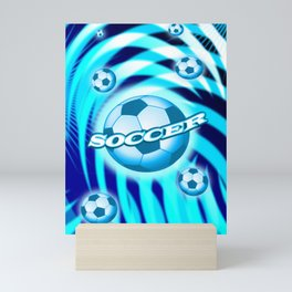 Soccer 6 Mini Art Print