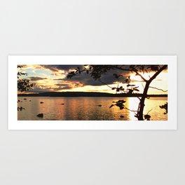Sunset Mountain Lake Art Print