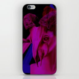 Neon Ram Girl iPhone Skin