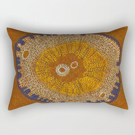 Growing - ginkgo - plant cell embroidery Rectangular Pillow