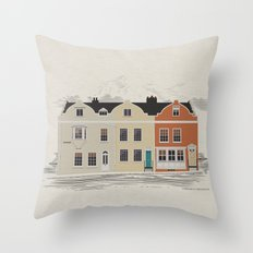 Lombard St. Portsmouth Throw Pillow