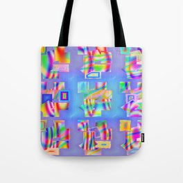 Abstract lighteffects -22- Fantasy on ice Tote Bag