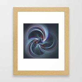 Moons Fractal in Cool Tones Framed Art Print