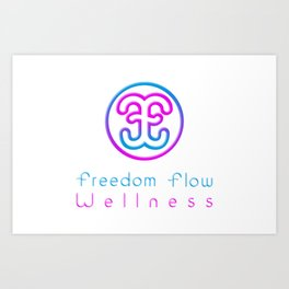 Freedom Flow Mat Art Print