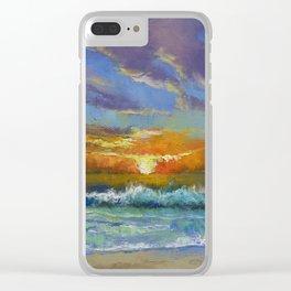 Malibu Beach Sunset Clear iPhone Case