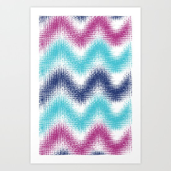 Batik Zig Zag Art Print