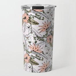 Tropical pattern pastel Travel Mug