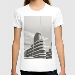 PAN PACIFIC AUDITORIUM BLACK AND WHITE T-shirt