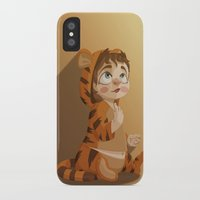 tigger iPhone & iPod Cases featuring Tigger pajama girl by Javier Robles