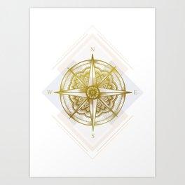 Golden Compass Art Print