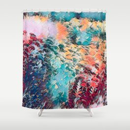 Vibrant Floral Art Shower Curtain