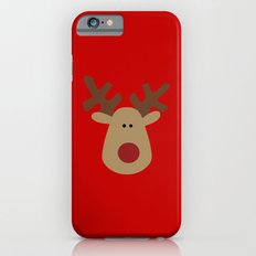 Christmas Reindeer-Red iPhone 6 Slim Case