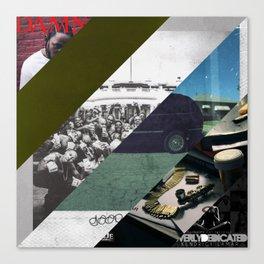 Kendrick lamar cover collage Canvas Print