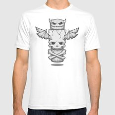 Grim Totem: A Forked Tongue Tale White MEDIUM Mens Fitted Tee