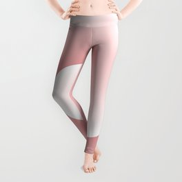Wave, in white and pink Leggings