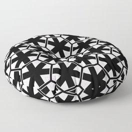 Multi Pattern Black and White Design Floor Pillow