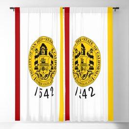 flag of San Diego Blackout Curtain