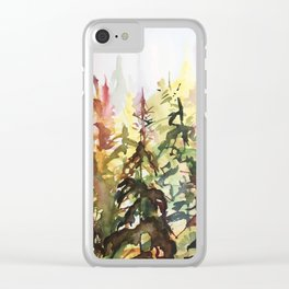 Golden Cedar Clear iPhone Case