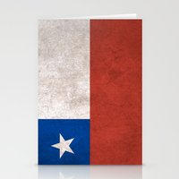 chile Stationery Cards featuring Chile Flag (Vintage / Distressed) by Patterns