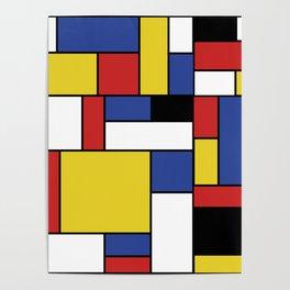 Mondrian Geometric Art Poster