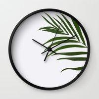fern Wall Clocks featuring Fern by Tamsin Lucie