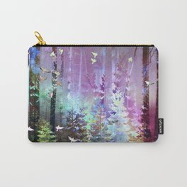 Siberian Summer- Northern Lights Carry-All Pouch
